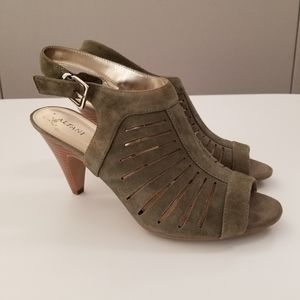Alfani Green Leathertte Wedges